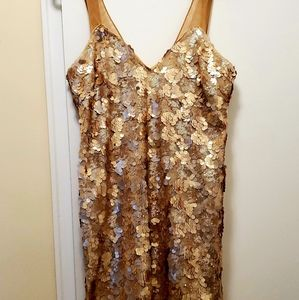 Dress the population Golden Sparkle Dress